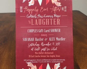 Qty 25+ Fall Shower Invitation Couples Shower Invitation Wedding Shower Fall Bridal Shower Invitation Shower Lingerie Party