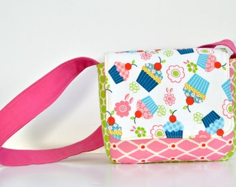 Toddler Kids Bag - Cupcake Messenger Bag