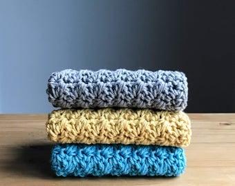 Crochet Dishcloth Set - Modern Kitchen Decor - Kitchen Towels - Knit Dishcloth - Cotton Dishcloth - Crochet Washcloth - Housewarming Gift