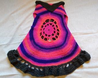 Crochet cartigan vests