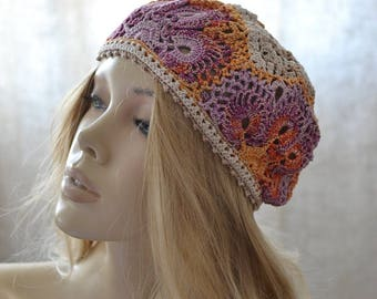 Crochet hat women Womens hats Summer crochet hat Summer hat women Crochet flower hat Crochet summer hat Lace crochet hat Crochet beret