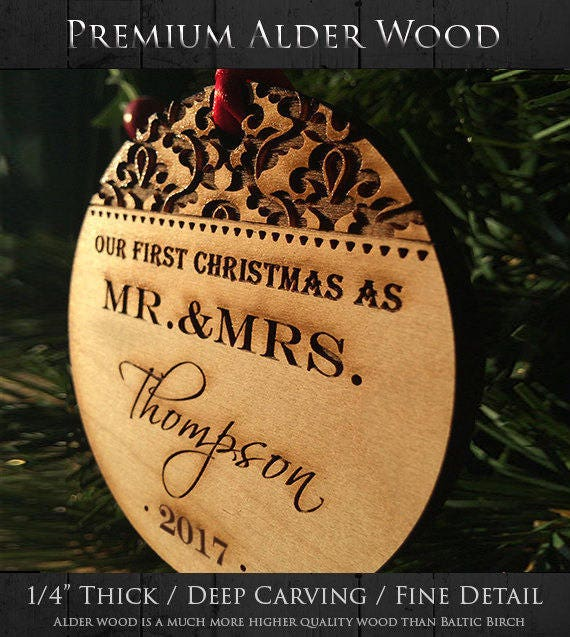 Personalized Christmas Ornaments Our First Christmas