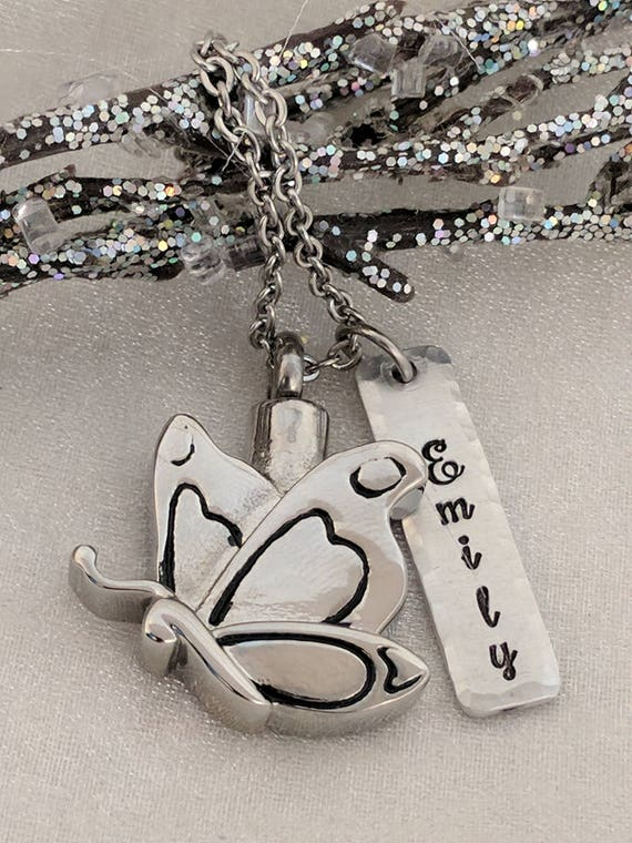 Butterfly Urn-Personalized Urn-Ashes Necklace-Urn Jewelry-Cremation Necklace-Necklace for Ashes-Sympathy Gift-Urn Necklace-Cremation Jewelry