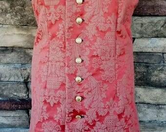 Extra Long Style 17th Century Renaissance/Pirate Vest