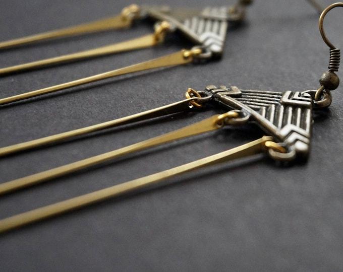 Maubin bronze earrings.
