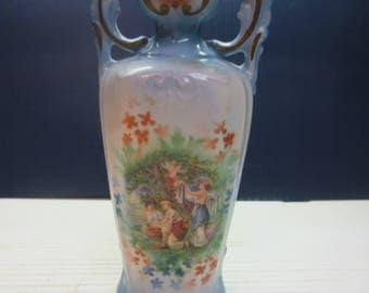 Vintage Vase Made in Czechoslovakia With Powder Blue Background