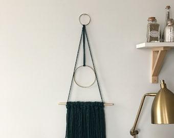 Modern Green Yarn Wallhanging