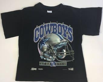 1992 Dallas Cowboys T shirt - Youth M - Vintage Dallas Cowboys - 90's Cowboys Shirt - Vintage Cowboys - Troy Aikman - Vintage Aikman