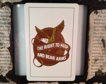 The Right To KEEP and BEAR ARMS Playing Cards Single Deck
