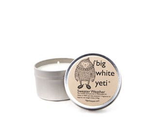 Sweater Weather Soy Candle- 6oz Tin