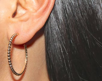 TWO FINISHES Rose Gold Vermeil CAMILLA Hoop Earrings