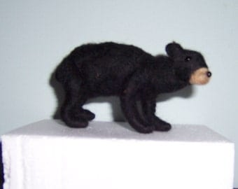 Black Bear Felted Wool
