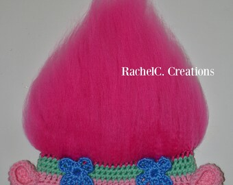 Poppy Troll Inspired Crochet Hat