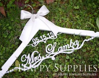 Custom Wedding Wooden Hanger Rod, Brides Name Logo, Custom Wedding Date Logo, Wedding Gifts, Wedding Supplies - Wooden Hanger for Brides