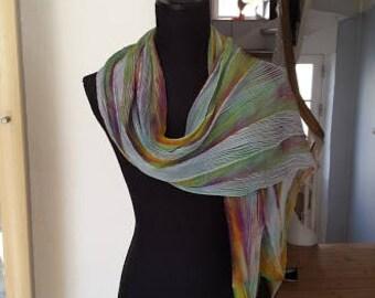 Arashi Shibori scarf