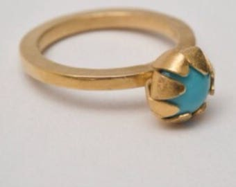 Goldcoated silver rings with Swarovsky stone.