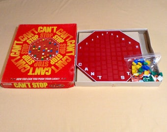 Vintage Can't Stop Board Game - 1980 Parker Brothers - Ages 10 to adult - Push Your Luck, Strategy Game - COMPLETE, GREAT SHAPE