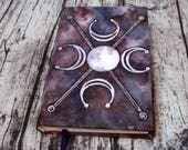 Seal Of The Moon Journal 300p Sigil Magic Blank Book of Shadows Painted Grimoire