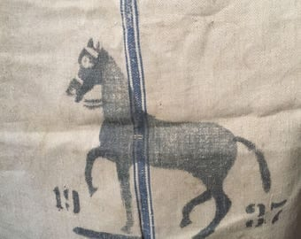 Antique German Grain Sack - Handspun Linen Grainsac