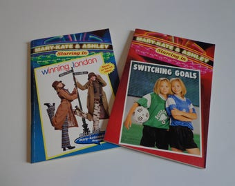 Mary Kate & Ashley Books Lot of 2 90s Y2k Olsen Twins Books Collectibles, TV Movie Series Tween Teens