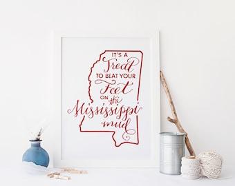 Mississippi Mud Calligraphy Art Print