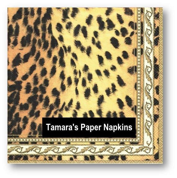 4 Decoupage Napkins Paper Napkins Wild Thing Cheetah