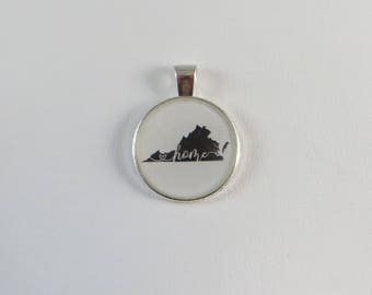 Virginia is Home Pendant, Necklace or Keychain