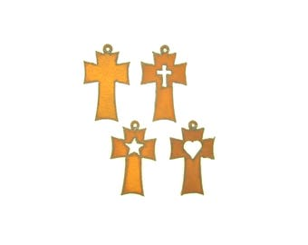 Traditional Cross Rusty Metal Pendant/Charm Assortment
