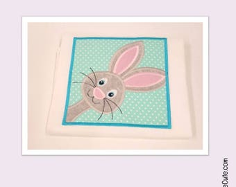 Peek-a-Boo Easter Bunny Shirt in Various Sizes and Ruffle Style Shirt - Peeking Easter Bunny Applique Embroidery - Great for Easter Egg Hunt