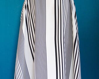 Black and White Stripe, Maxi Swing Dress