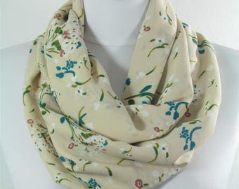 Floral Scarf Circle Scarf Loop Scarf Infinity Scarf Spring Summer Fall Winter Scarf Women Fashion Accessories 60