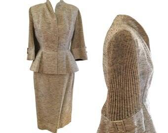 1950s Lilli Ann Suit Near Mint Accordion Sleeve Large