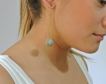 Gold ball - earrings ON SALE