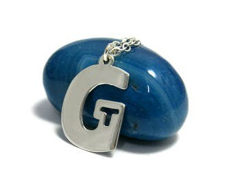 2 initial necklace, Custom initial necklace, Initial charm necklace, Initial name necklace, Letter necklace silver, Two Initial Necklace.