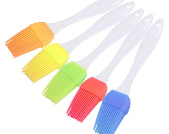 Silicone Heat Resistant Pastry Brush. Available in Different Colours. Candy Colours Plastic Cooking Tool. Ideal for Basting and Baking