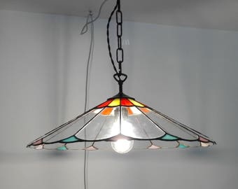 modern hanging lamp -tiffany lamp- stained glass lamp- contemporary chandelier