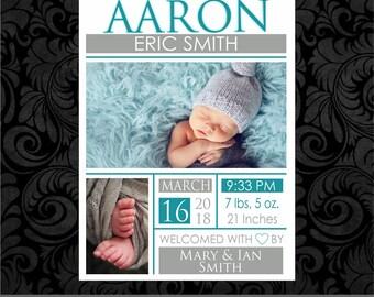 Birth Announcement DIGITAL file - Baby Boy 1