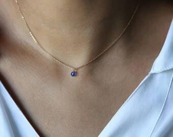 Birthstone Crystal Necklace // Birthstone necklace for mom // Birthstone necklace for grandma //September Sapphire