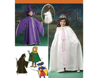 1583, Simplicity, child Costume, Pirat, Wizrd, Princess, Cape with Hood, Tabard, Hat, Hooded Cape, Fantasy, Halloween Cape, Knights Cape