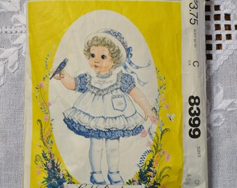 Vintage McCalls 8399 Sewing Pattern Toddler Child Dress and Pinafore Size 4 5 6 Crafts  DIY Sewing Crafts PanchosPorch