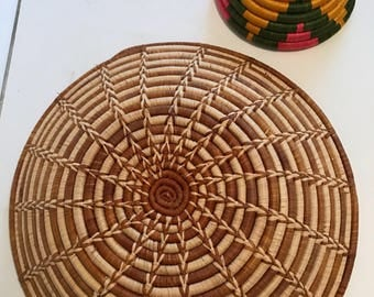 Pair of handwoven African bowls