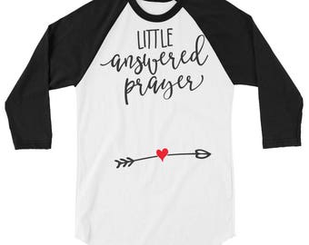 Maternity baseball shirt style  | Little answered prayer