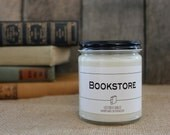 Bookstore - Book Inspired Scented Soy Candles -  8oz glass jar
