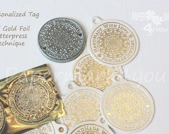 YOUR GOLD FOIL Logo Deposit_Custom Gold Foil Personalized Tag - Shop Tag_ Personalized Label_Deposit