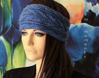 HEADBAND / Hairband Merino jeans blue