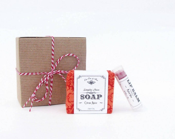 Holiday Spiced Gift Set - Citrus Spice Soap & Mulled Wine Lip Balm