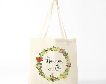 tote bag Thank you nanny, green version
