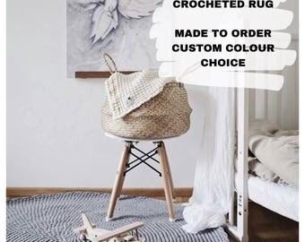 Crocheted round rug fi 100cm 40''| crochet rug | crocheted rug | scandinavian rug | round rug | round carpet |crochet carpet | circular rug