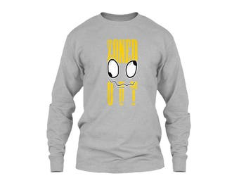 """Men's Long Sleeve T Shirts with Title """"Zoned Out Best Design Tees"""""""