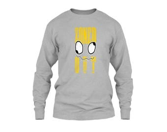"Men's Long Sleeve T Shirts with Title ""Zoned Out Best Design Tees"""